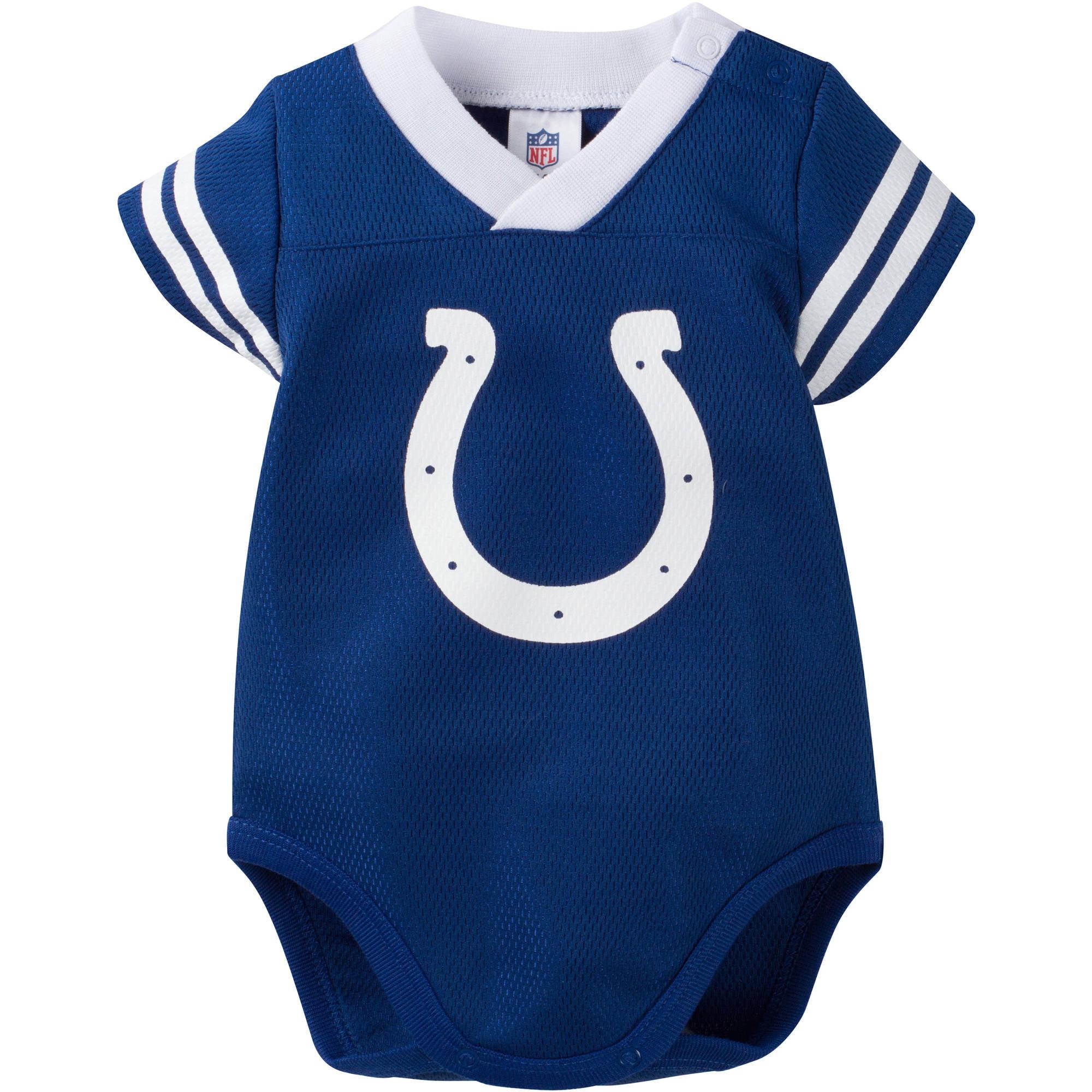 NFL Indianapolis Colts Baby Boys Mesh Dazzle Bodysuit