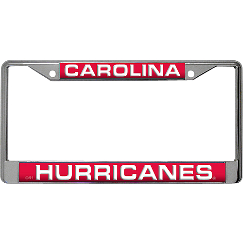 Carolina Hurricanes NHL Chrome Laser Cut License Plate Frame