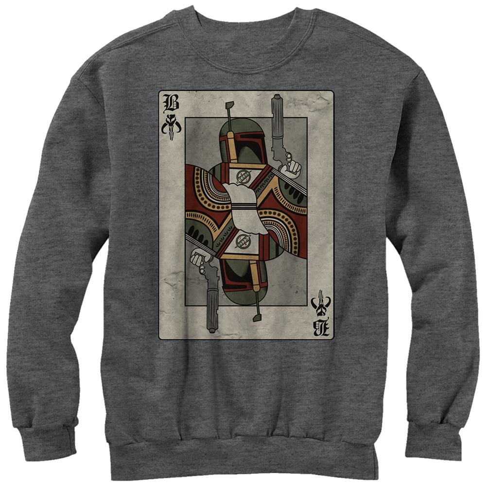 Star Wars Men's Boba Fett Playing Card Sweatshirt