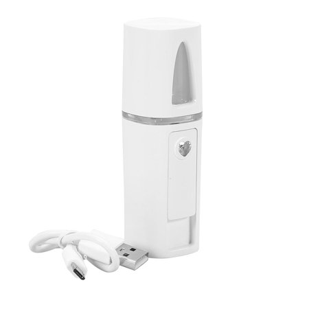 TMISHION Water Spa Portable USB Nano-Ionic Mist Spray Cool Sprayer Hydrating Refresh Soft Skin Mister Mini Humectant Beauty Skin Care Tool White