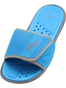 Norty Young Men's Drainage Slide Sandals Quick Drying Shoe - Beach, Pool, Shower