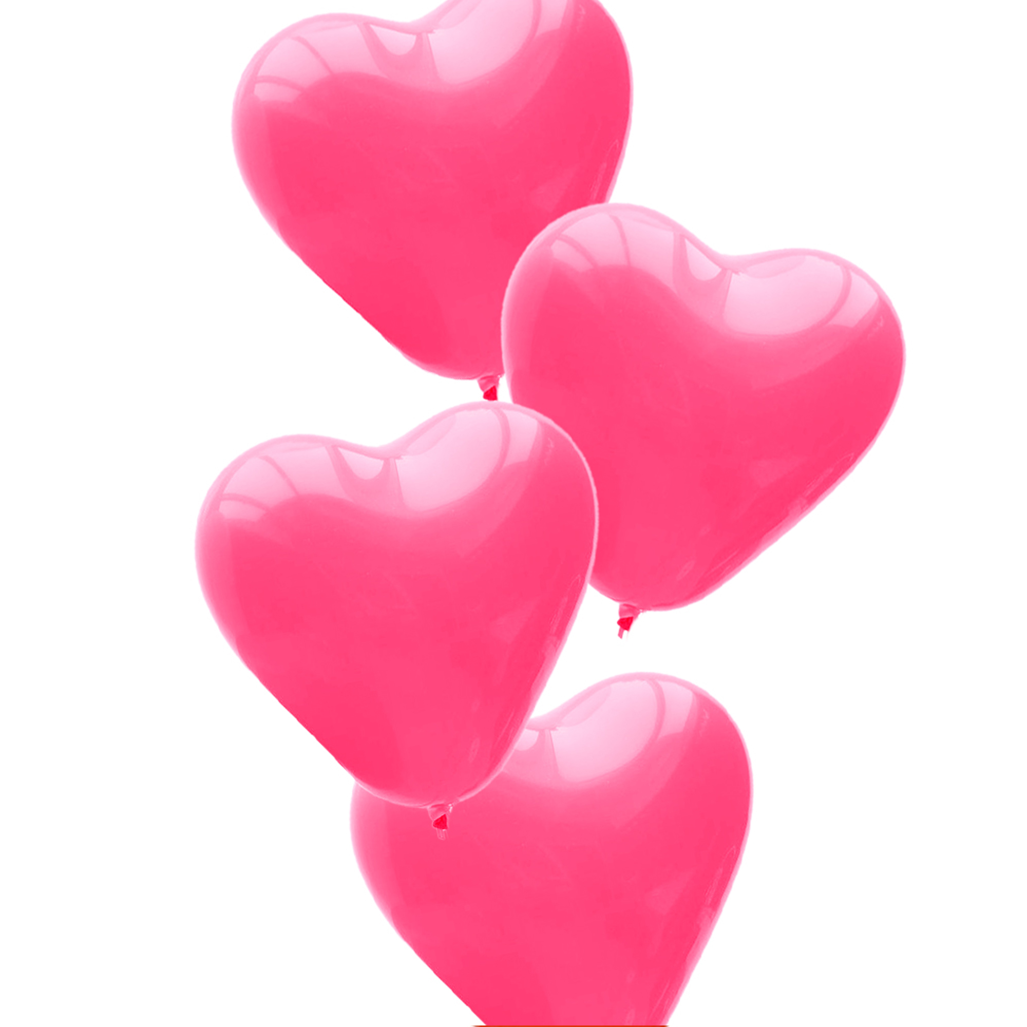 25pcs, The Elixir Party Heart Balloons Decoration Balloons Latex Balloons with Helium Quality for Birthday, Propose, Wedding, and Anniversary Party, Pink