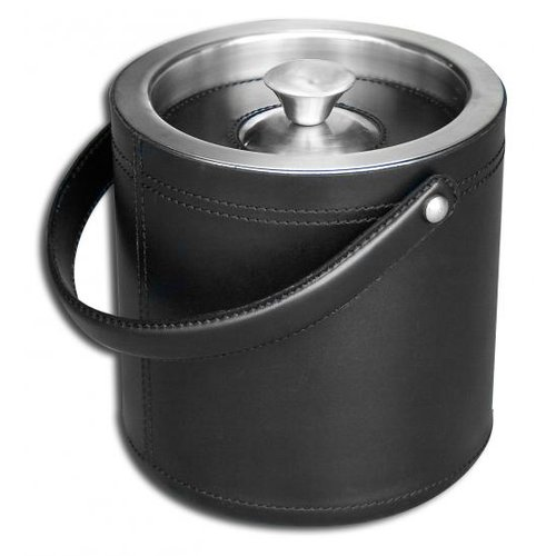Dacasso A1060 Black Leather Ice Bucket