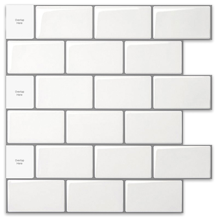 10 X 10 10 Sheets, Marble Cube Black 10 Sheets for Kitchen Decorative Tiles STIQUICK TILES Peel and Stick Backsplash