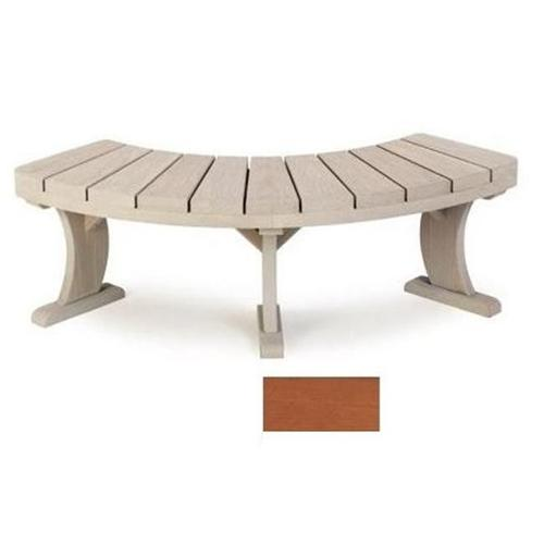 A and B Accessories SUNBEN Redwood Curved Bench