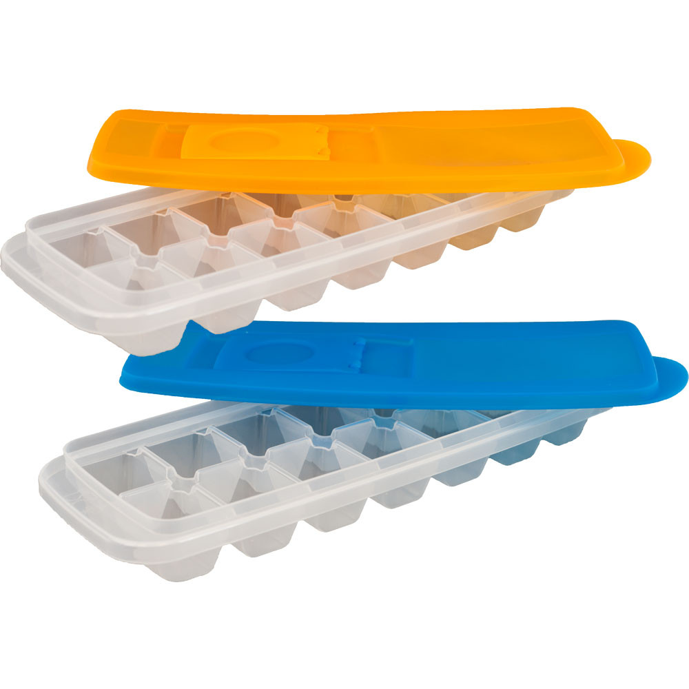 Chef Buddy Ice Cube Trays with Lids, Set of 2