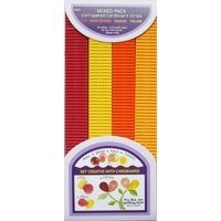 "Quilling Paper Corrugated 18.5""X10mm 32/Pkg-Red, Orange & Yellow"