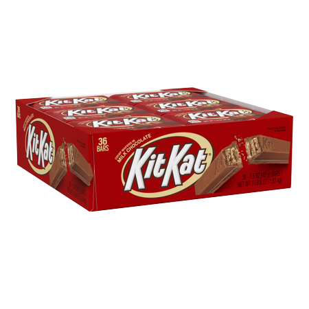 Kit Kat, Milk Chocolate Wafer Candy Standard Bar Box, 1.5 Oz., 36 Ct. Chocolates Heart Shaped Box