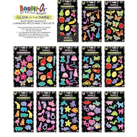 144 Bandit-O's GLOW IN THE DARK Stretch Bands -Full Collection - Bracelets - Compare to Silly Bandz!!!](Glow In The Dark Bracelets)