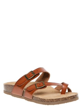 Womens Time And Tru Footbed Slide