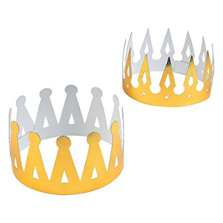 Fun Express Foil Gold Crowns (1 Dozen)