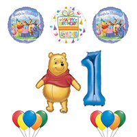 Winnie the Pooh and Friends 1st Birthday Party Supplies and Balloon Bouquet Decorations