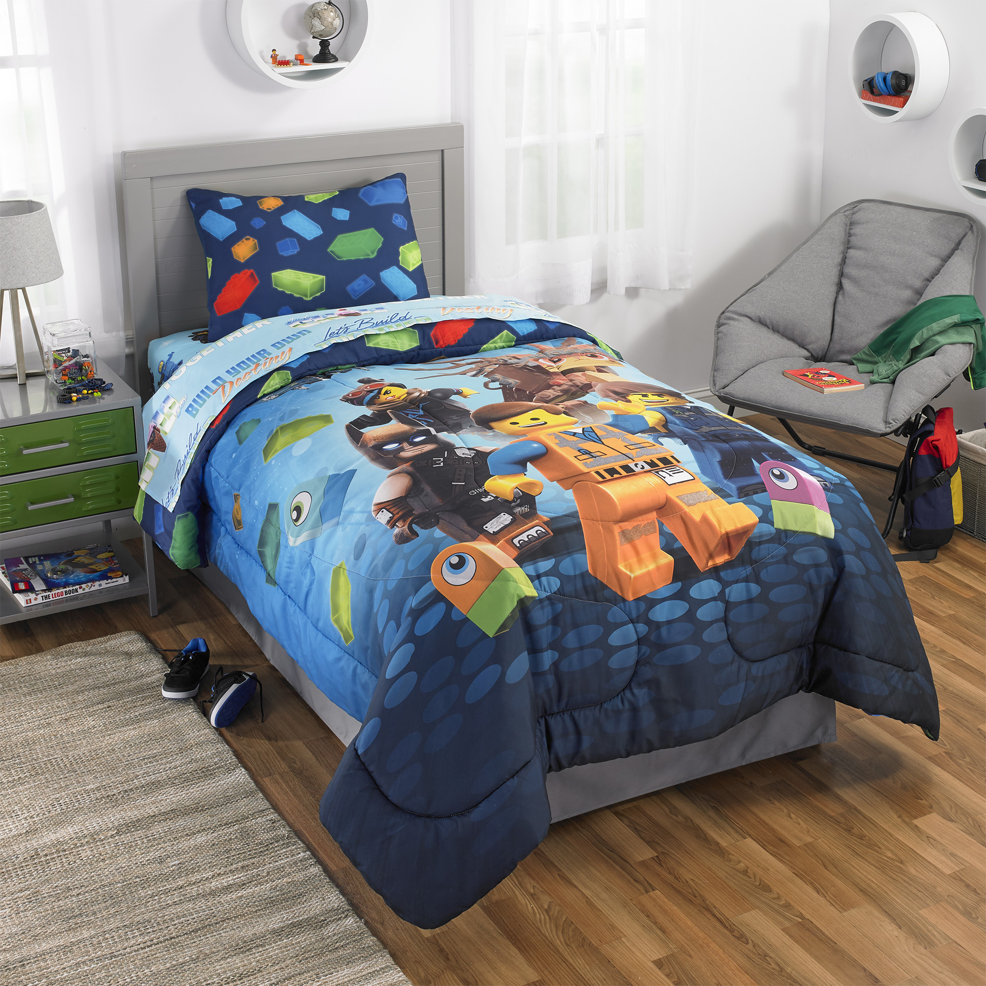 Lego Batman Kids Bedding Pillow Buddy 21 Tall Block Night Walmart Com Walmart Com