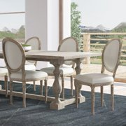 Dining Chair Set of 2 Round Back Kitchen Dining Room Chair Solid Wood Distressed Tufted Armless Accent Chair