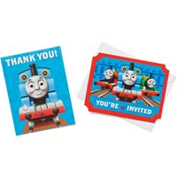 Thomas and Friends Party Invite and Thank You Combo Pack, 8ct