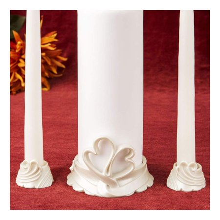- Double heart themed Unity Candle holders By Fashioncraft