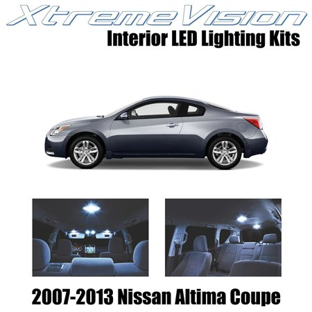 - XtremeVision LED for Nissan Altima Coupe 2 Door 2007-2013 (15 Pieces) Cool White Premium Interior LED Kit Package + Installation Tool