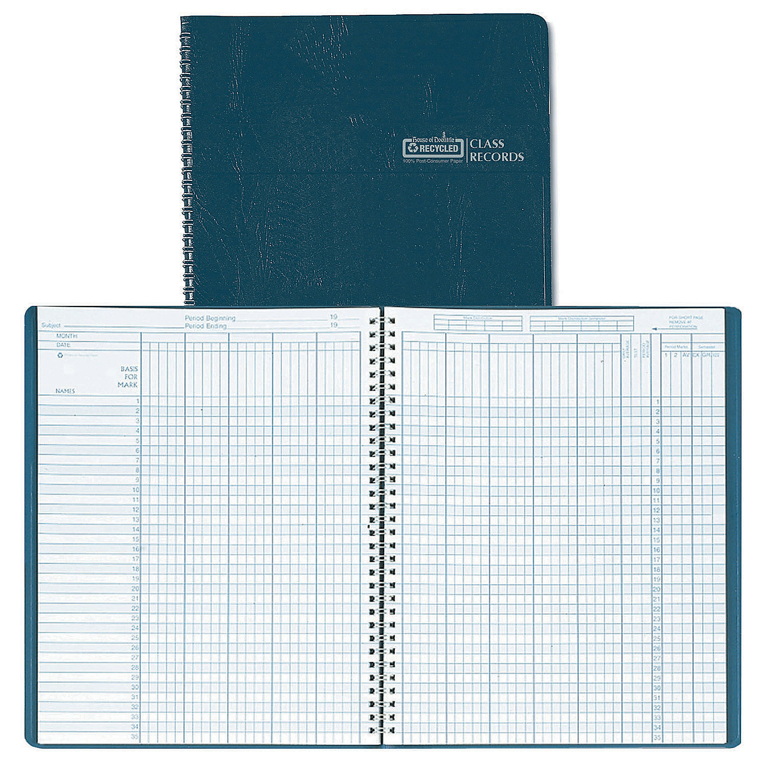 Class Record Planner Blue 8-1 2 x 11 Inch Set of 3 planners by