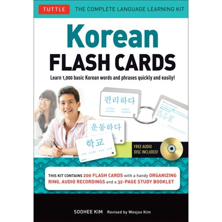 Basic Learning Series - Korean Flash Cards Kit : Learn 1,000 Basic Korean Words and Phrases Quickly and Easily! (Hangul & Romanized Forms) (Audio-CD Included)