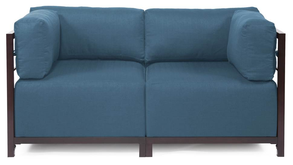 2-Pc Sectional in Turquoise by Howard Elliott Collection