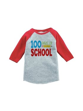 Custom Party Shop Kids 100 Days of School Red Baseball Tee - X-Large / 18-20