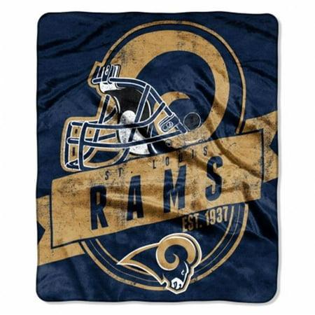 St. Louis Rams Blanket 50x60 Raschel Grandstand Design - image 1 of 1