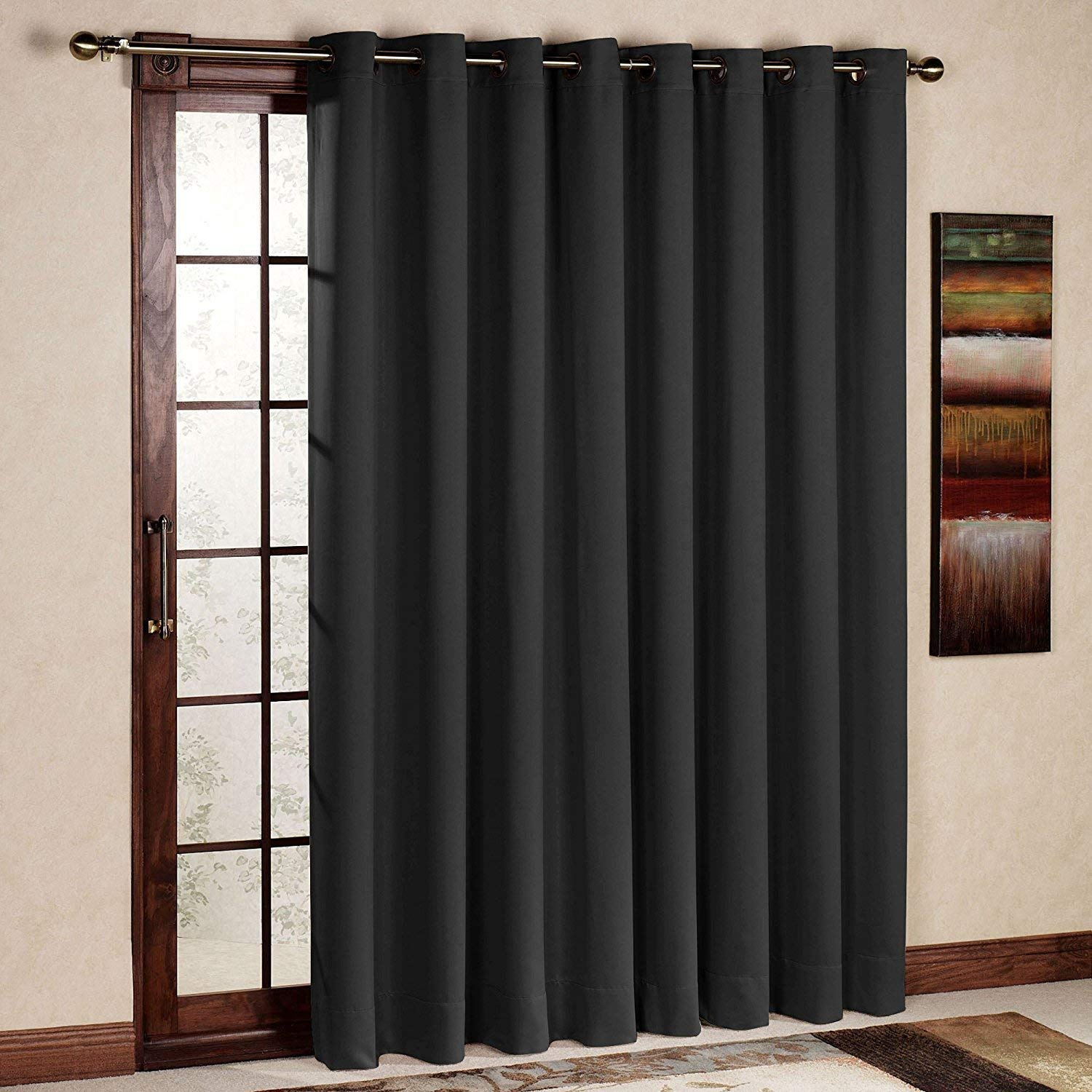 96 inch wide blinds wood blinds rose home fashion rhf function curtainwide thermal blackout patio door curtain panel sliding