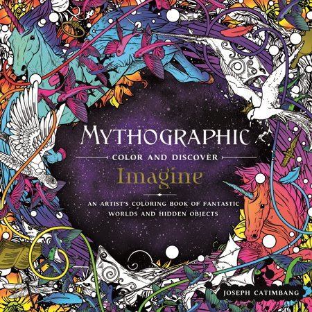 Mythographic Color and Discover: Imagine : An Artist's Coloring Book of Fantastic Worlds and Hidden Objects (Kindle Hidden Object Games)