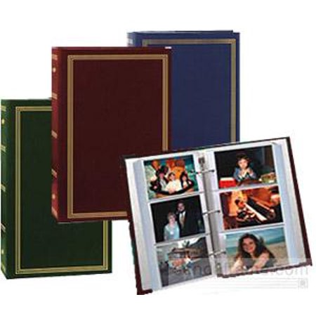 (3 pack) 3-ring pocket album for 500  photos - ASSORTED COLORS - Buy 3  and SAVE ()