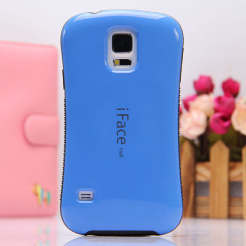 Ultra Shock-Absorbing iFace Case Cover Skin For Samsung Galaxy S5 i9600 - Blue - image 1 de 1