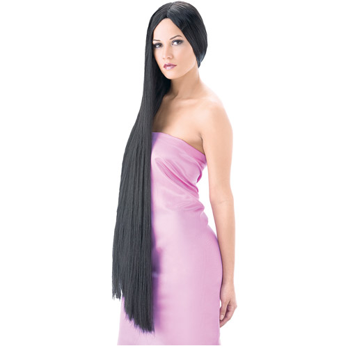 Black Super Witch Wig Adult Halloween Accessory