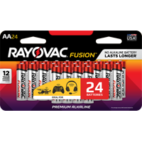 24-Pack Rayovac Fusion Performance Alkaline AA Batteries