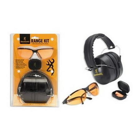 Portable Shooting Kit - Browning Shooting Glasses Range Kit with Hearing Protection