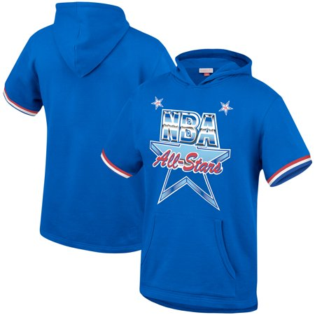 Mitchell & Ness Youth 2019 NBA All Star Game Short Sleeve Pullover Hoodie - Blue
