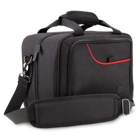 USA Gear Drone Carrying Case with Strap, Adjustable Dividers, and Extra Pockets - Compatible with Yuneec Breeze, DJI Mavic Pro 2 and More - Fits Drone, Charger Cable, Batteries,  and Propellers -
