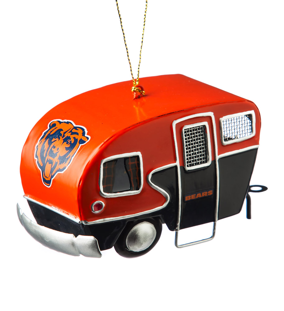Chicago Bears Metal Camper Ornament