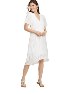 4c3fa3cf8c4 Product Image Lace High-Low Prairie Dress
