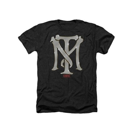 Scarface Crime Drama Movie Tony Montana Bling Sign Adult Heather T-Shirt Tee