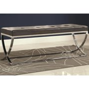 A Line Furniture Marquee Contemporary Sleek Design Black Tufted Upholstered Accent Bench