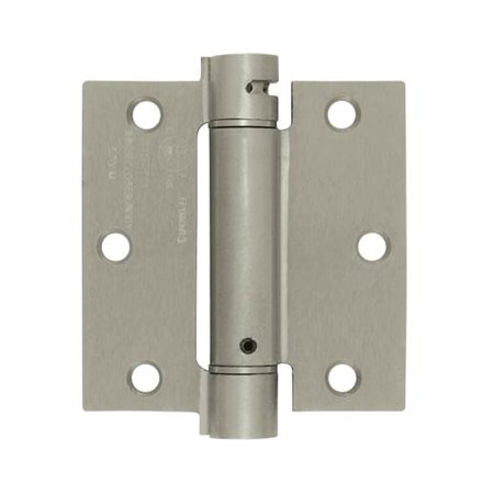 - 3.5 in. x 3.5 in. Single Action Steel Spring Hinge (Set of 10) (Polished Brass)