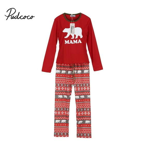 Family Matching Xmas Pajamas Set Women Kid Dad Adult PJs Fun Sleepwear  Nightwear - Walmart.com 6723f3dad