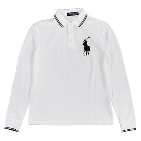 03a11e00 Polo Ralph Lauren - New 3303-3 Polo Ralph Lauren Mens White Long Sleeve Mesh  Big Pony Polo Shirt Large L - Walmart.com