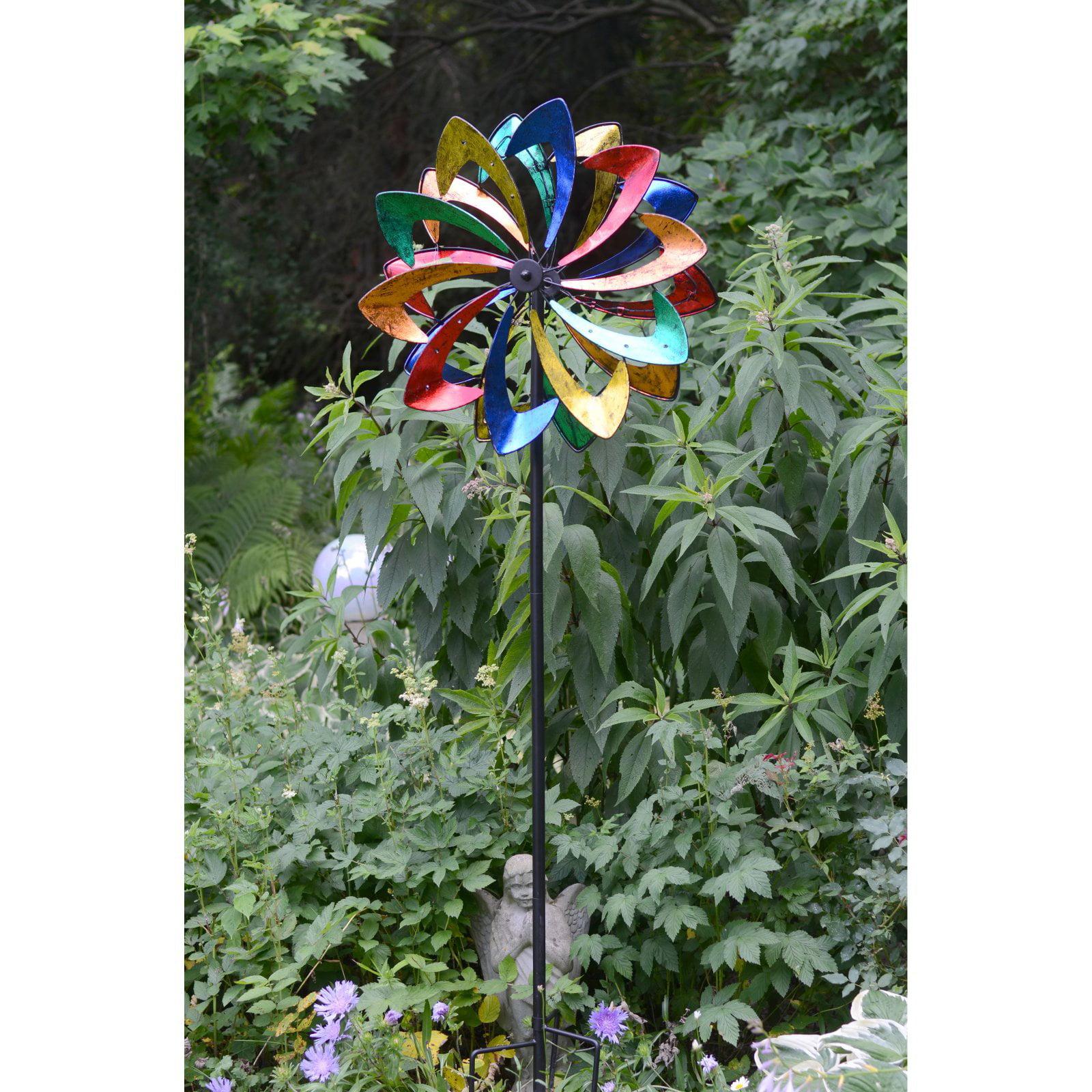 Red Carpet Studios 75 in. Multi Color Petal Wind Spinner by Red Carpet Studios