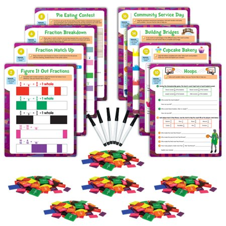 EAI Education Hands-On Math Centers: Fraction Tiles - Grade 4