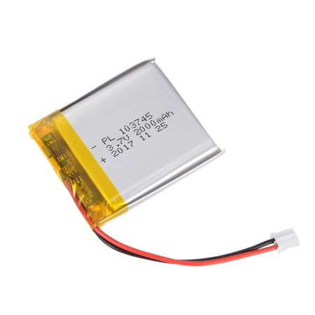 Power Supply DC 3.7V 2000mAh 103745 Rechargeable Lithium Polymer Li-Po Battery - image 5 de 5