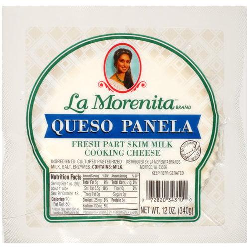 La Morenita Queso Panela Fresh Part Skim Milk Cooking Cheese, 12 oz