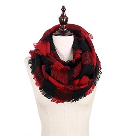 Scarab Collection (StylesILove Plaid Lovers Collection Womens Infinity Scarf (Buffalo Plaid Red) )