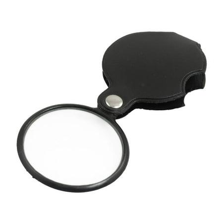 Round Glass Magnifier - Unique Bargains Plastic Round Frame Folding 50mm Dia 5X Magnifier Magnifying Glass