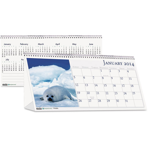 House of Doolittle HOD3689 Wildlife Desk Top Tent Calendar