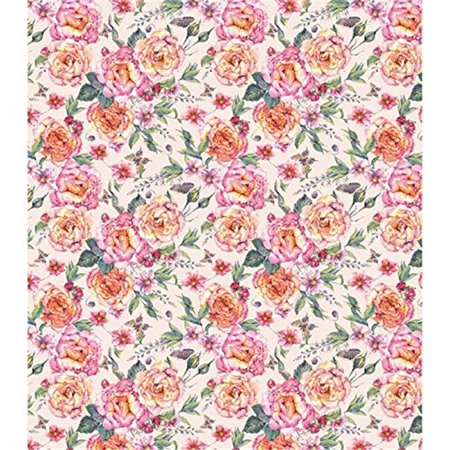 Decoupage Papers 13.75 x 15.75 in. 3 Pack - Rose -